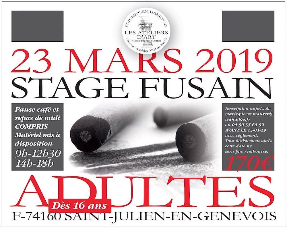 Stage Adulte Fusain Fevrier 2019